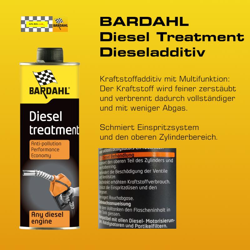 BARDAHL Diesel Treatment -  Dieseladditiv  - 300 ml Dose