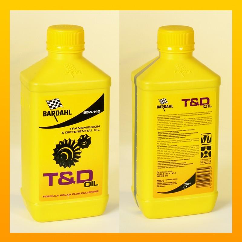 BARDAHL T&D C60 GEAR OIL 85W-140 Getriebeöl - 1 Liter-Flasche
