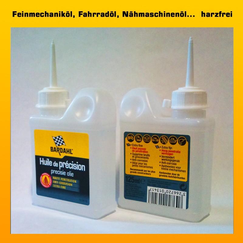 BARDAHL PRÄZISIONSÖL - für Türschlösser, Fahrräder, Nähmaschinenöl, Waffenöl ... - 125 ml Flasche (EUR 7,96 /100 ml)