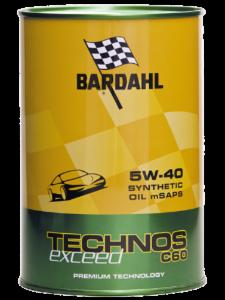 BARDAHL TECHNOS C60 Motor Oil 5W-40 exceed  - 1 Liter-Dose – Bild 1