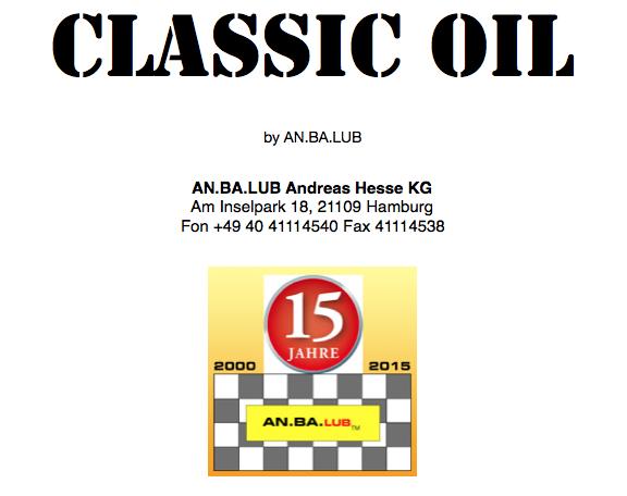 Classic Motoröl SAE 20W-50   -     60 Liter Fass