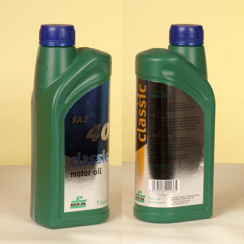 ROCK OIL CLASSIC 40 MOTOR OIL - 1 Liter-Flasche