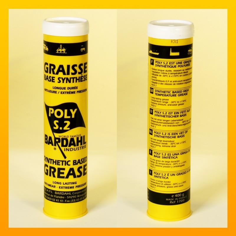 [Paket] BARDAHL POLY S2 Vollsynthesefett - Doppelpack: 2 Kartusche à 400 g