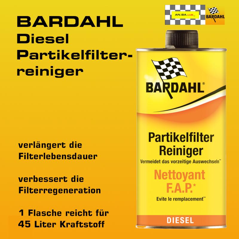 BARDAHL Diesel Partikelfilterreiniger  - 1 Liter-Flasche