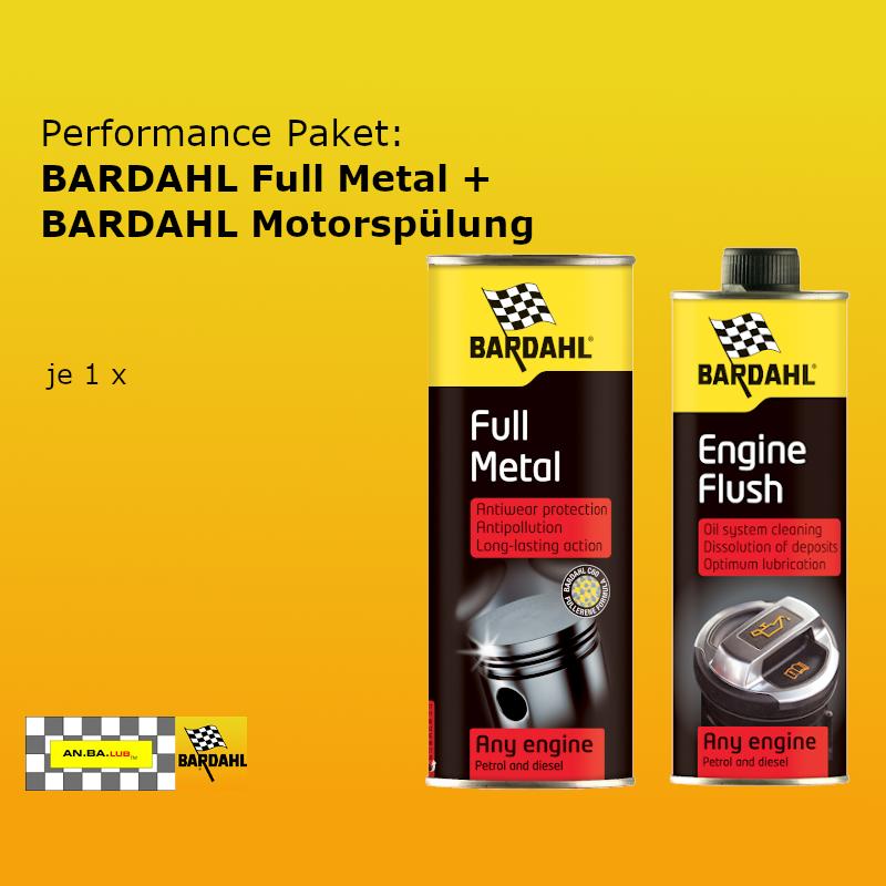 [Paket] Performance Paket: BARDAHL FULL METAL + BARDAHL Motorspülung