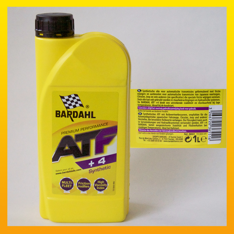 """BARDAHL ATF +4 Synthetic """"Multivehicle"""" -  1 Liter-Flasche"""