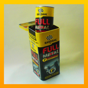 """Metalbox"" : BARDAHL ""FULL METAL"" Longlife-Ölbehandlung in der  ""Metalbox"" - 400 ml – Bild 1"
