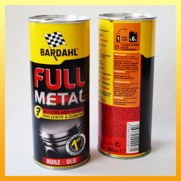 """Metalbox"" : BARDAHL ""FULL METAL"" Longlife-Ölbehandlung in der  ""Metalbox"" - 400 ml"