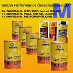 "BENZIN PERFORMANCE Ölwechselpaket ""M"": 6 x BARDAHL XTC C60 MOTOR OIL 5W-40  (VW 502.00 - 505.00) + BARDAHL FULL METAL + BARDAHL MOTORSPÜLUNG"