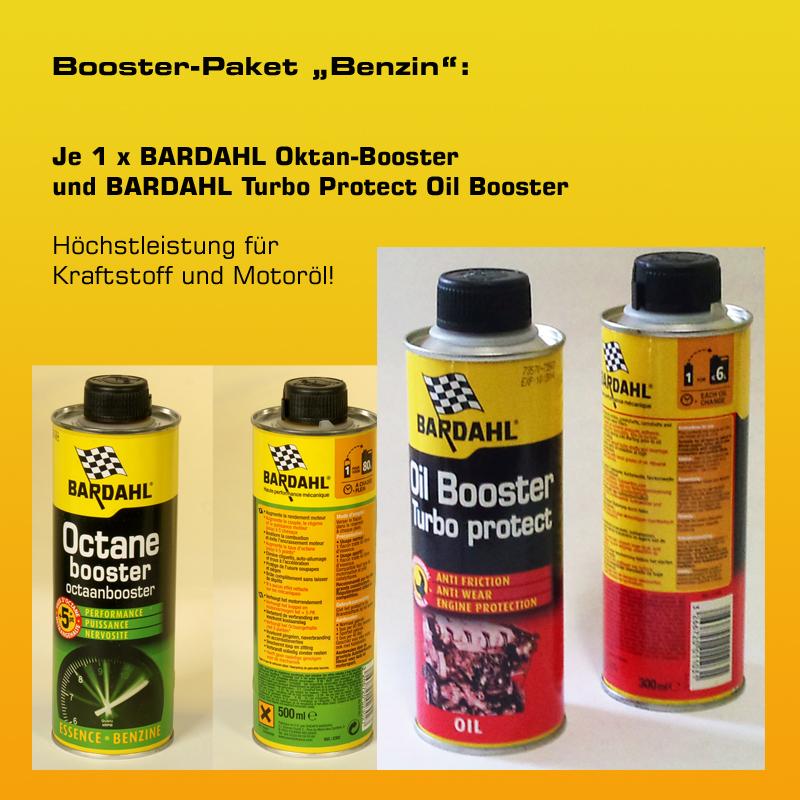 "[Paket] Booster-Paket ""Benzin"": 1 x BARDAHL Oktan-Booster + 1 x BARDAHL Turbo Protect Oil Booster"