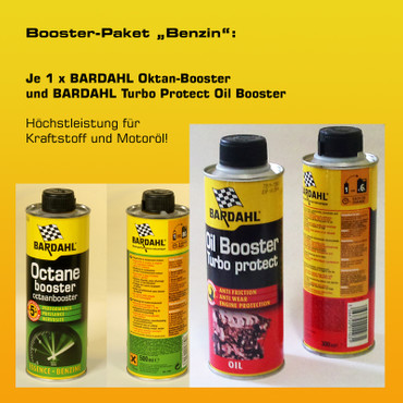 "Booster-Paket ""Benzin"": 1 x BARDAHL Oktan-Booster + 1 x BARDAHL Turbo Protect Oil Booster"