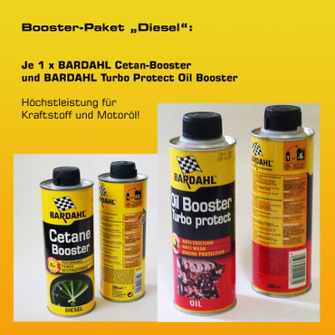 "Booster-Paket ""Diesel"": 1 x BARDAHL Cetan-Booster + 1 x BARDAHL Turbo Protect Oil Booster – Bild 1"