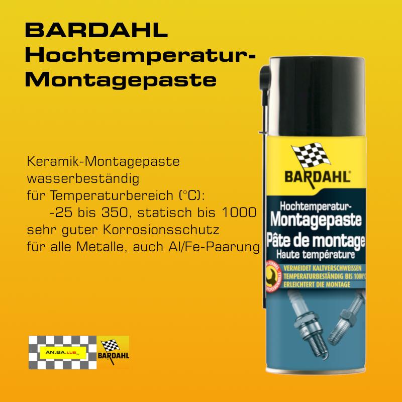 BARDAHL Hochtemperatur Montagepaste - 400 ml-Spray