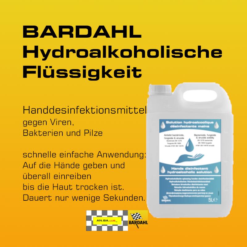 BARDAHL Hydroalkoholische Flüssigkeit  zur Händedesinfektion - 5 Liter-Kanne