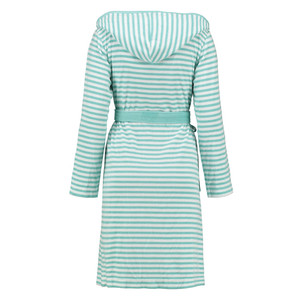 Esprit Damen Bademantel Striped Hoodie, S - XL, mint gestreift – Bild 2