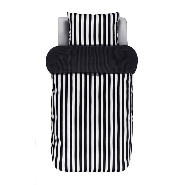 Marc O Polo Home Bettwäsche Classic Stripe, Baumwoll-Satin, black