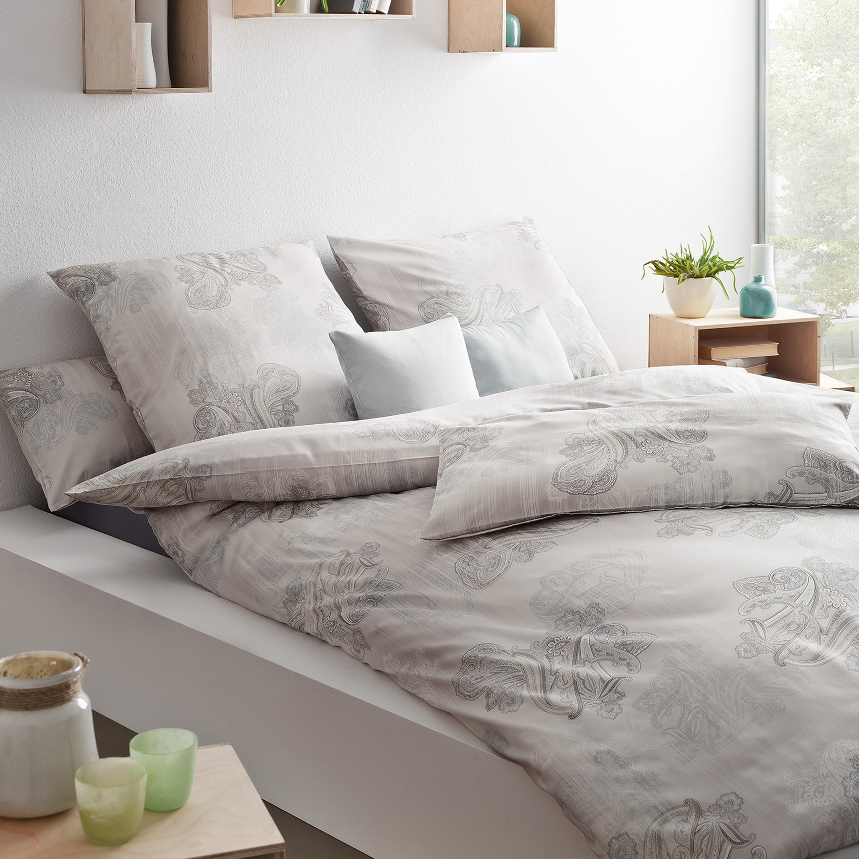 estella bettw sche indira mako satin taupe. Black Bedroom Furniture Sets. Home Design Ideas