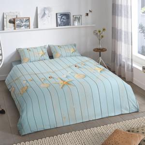 Good Morning Bettwäsche Beach, 100% Baumwolle, blau – Bild 2