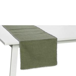 Pichler Tischläufer Tischset Suna, Used-Optik, prewashed jade