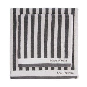 Marc O´Polo Classic Stripe Handtuch Duschtuch, anthracite/silver