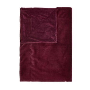 Essenza Wohndecke Fell-Optik Furry, 150 x 200cm, burgundy
