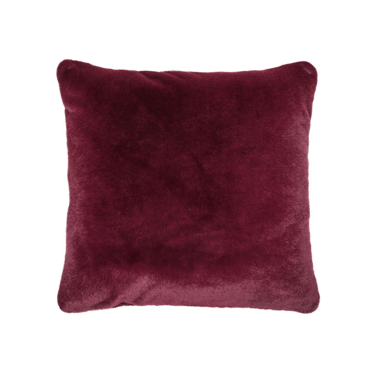 Essenza Deko-Kissen Fell-Optik Furry, 50 x 50 cm, burgundy