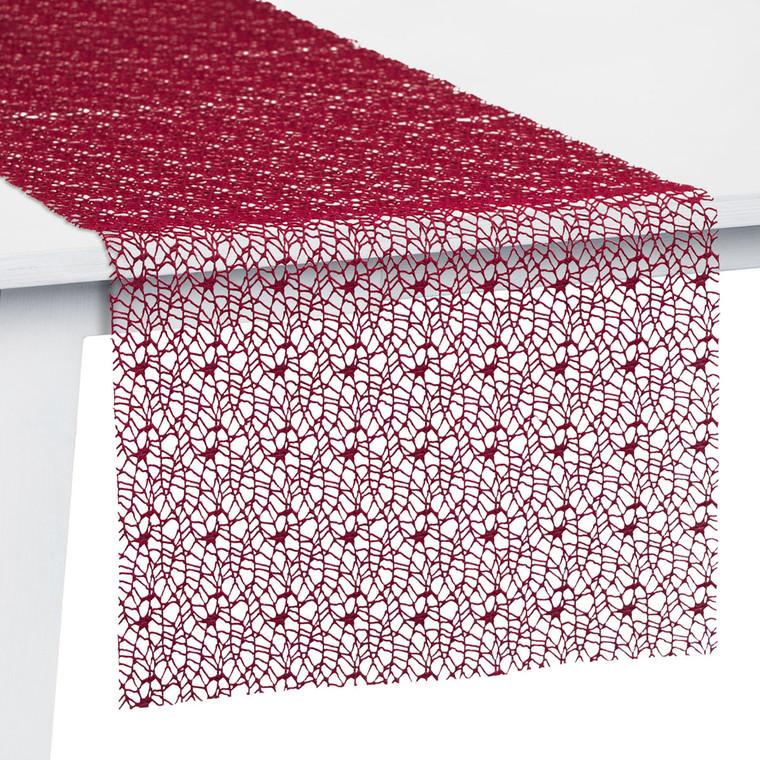 Pichler Tischset Tischband Tischläufer Mitteldecke Network, burgund