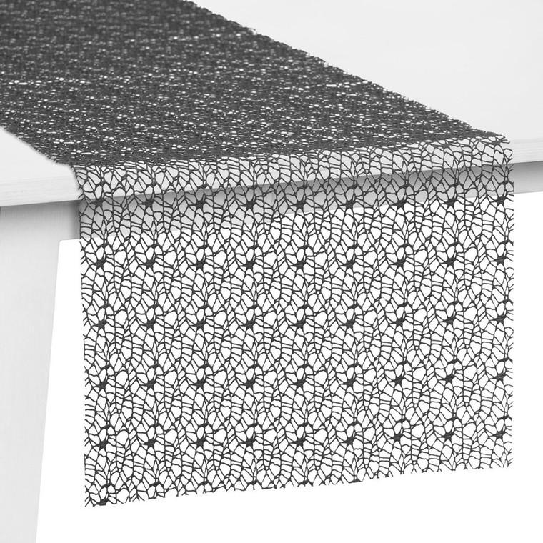 Pichler Tischset Tischband Tischläufer Mitteldecke Network, graphit