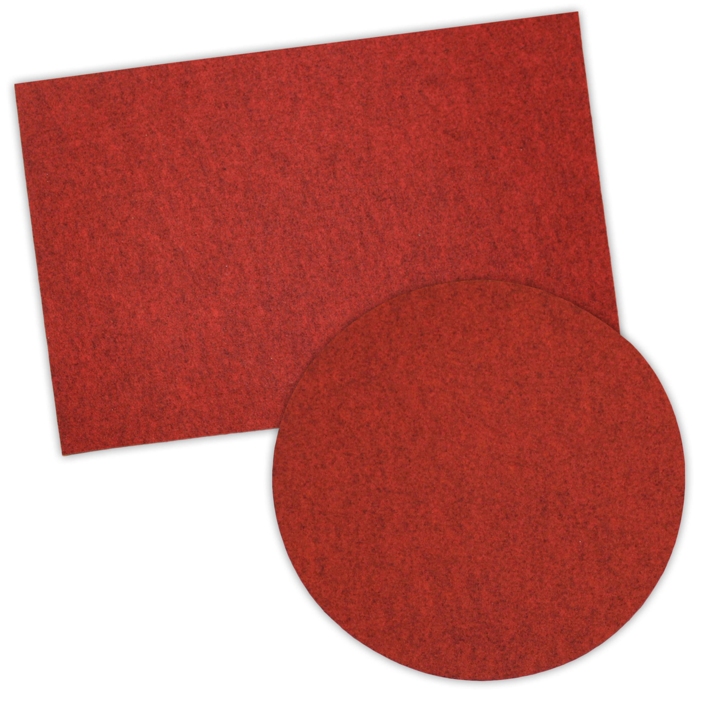 ge gra filz tischset rund oder quadratisch rot melange. Black Bedroom Furniture Sets. Home Design Ideas