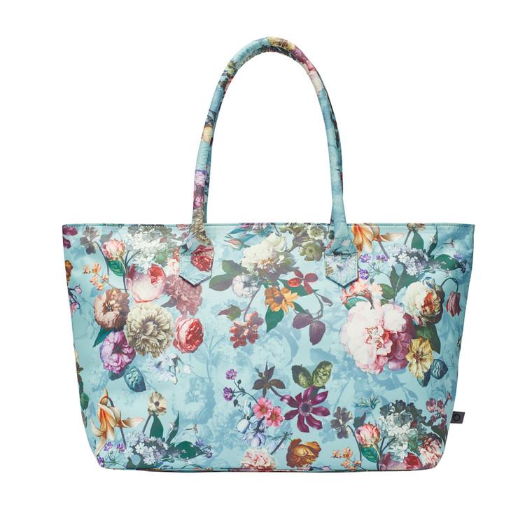 Essenza Schultertasche Strandtasche Shopper Puck Fleur, aqua