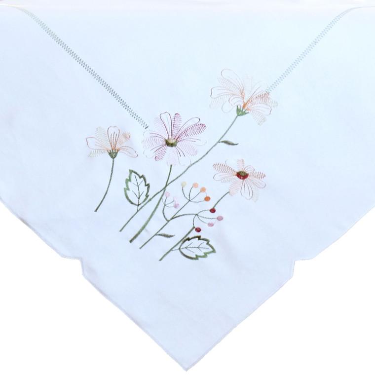 Raebel Mitteldecke mit Stickerei Blumen, 85 x 85 cm, ecru/bunt