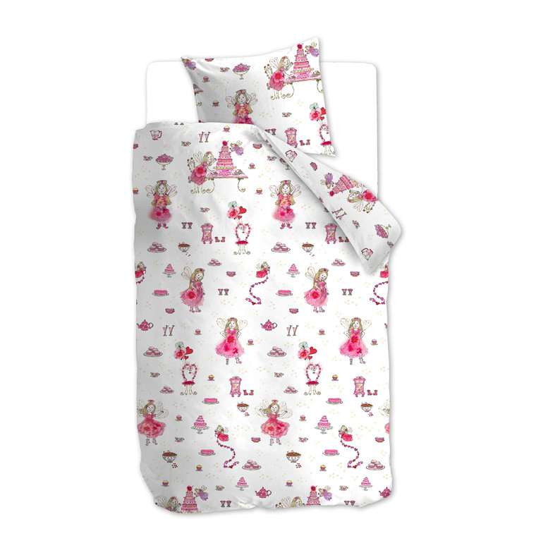 Beddinghouse Kinderbettwäsche Birthday Fairy, 100% Baumwolle, pink