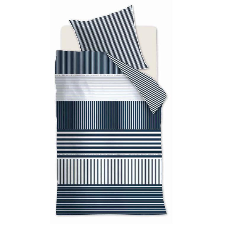 Riviera Maison Bettwäsche Hilton Head, 100% Baumwolle, blue