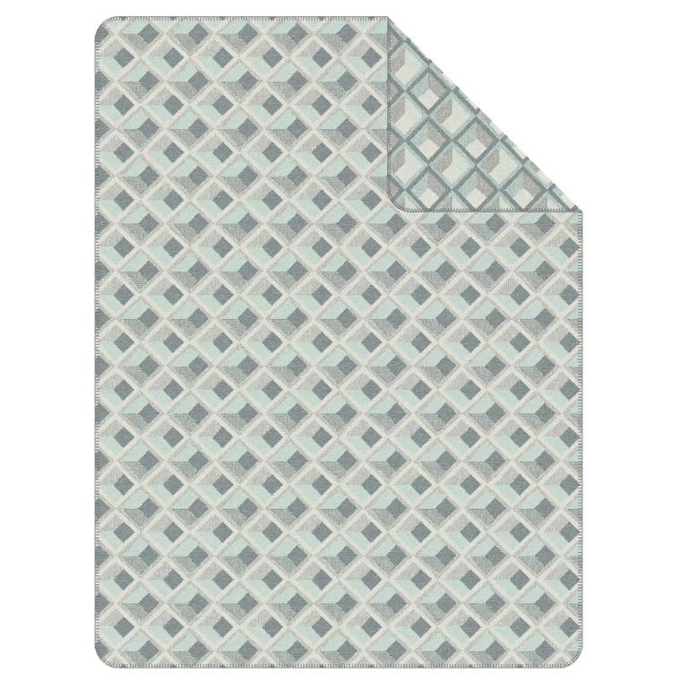 Ibena Wohndecke Rotterdam, 150 x 200, grau/mint