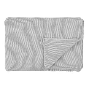 Marc O Polo Wohndecke Strickplaid Nordic Knit, 130 x 170 cm, silver