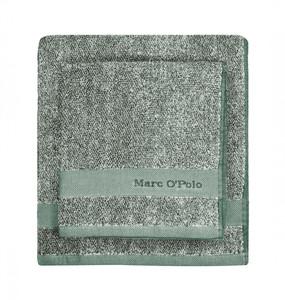 Marc O´Polo Melange Waschhandschuh Gästetuch Handtuch Duschtuch, pine green/off white