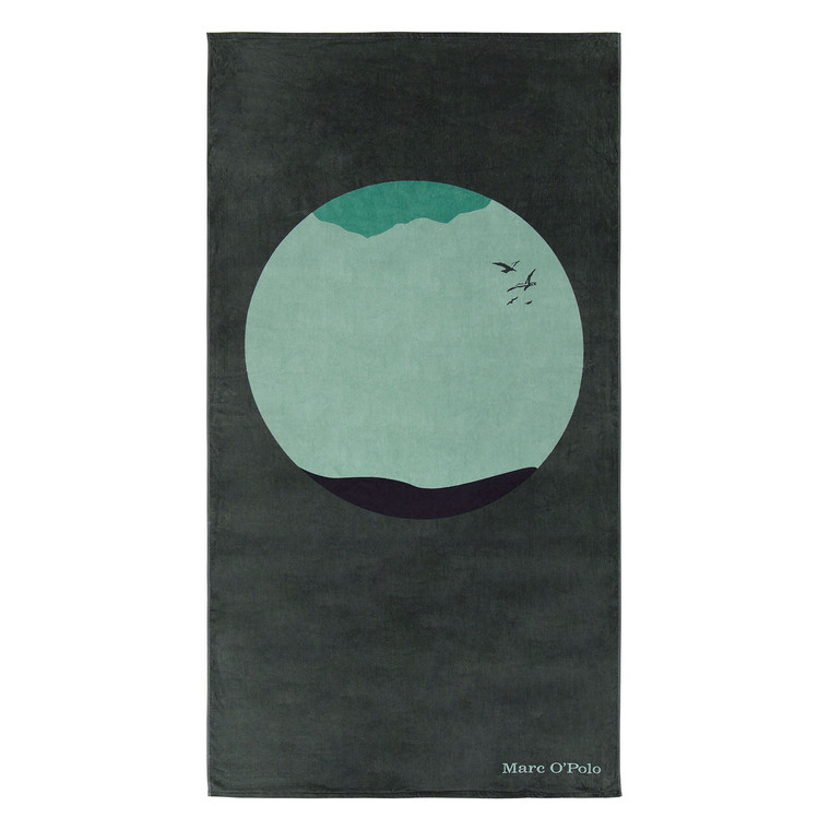 Marc O Polo Strandtuch Sea Circle, 100 x 180 cm, green