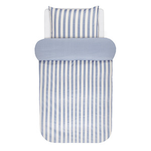 Marc O Polo Home Bettwäsche Classic Stripe, Baumwoll-Satin, pastel blue