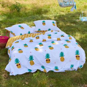 Covers&Co Baumwoll-Bettwäsche Pineapple, yellow – Bild 2