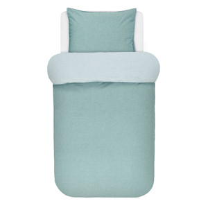 Marc O Polo Home Bettwäsche Washed Chambray mit Soft Feeling, aqua – Bild 1