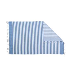 Done Strandtuch Sporttuch Badetuch Hamamtuch CAIRO, 90 x 160 cm, smoky blue – Bild 2
