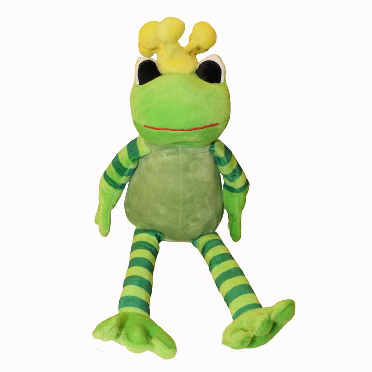 Süßes Stofftier Frosch mit Krönchen, ca. 40 cm