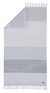 Cawö Hamamtuch Strandtuch Badetuch, 100 x 180 cm, Fb. 50 platin