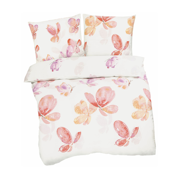 Living Dreams Satin-Bettwäsche Butterfly, multi