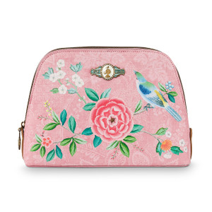 Pip Studio Kosmetiktasche Triangle - Medium - Floral Pink