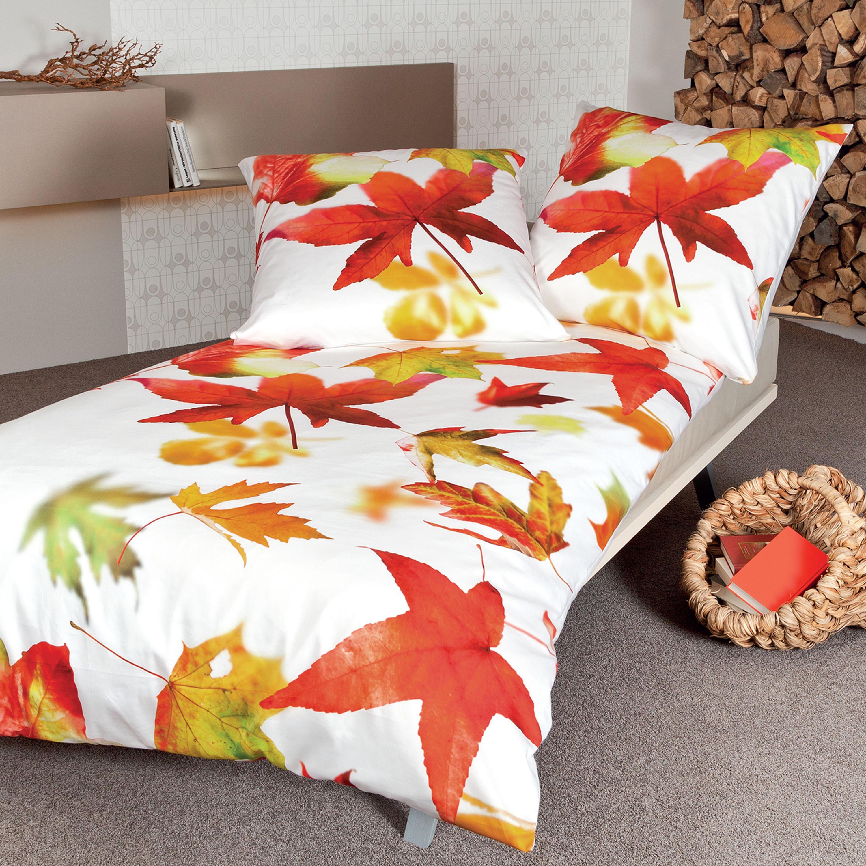 janine mako satin bettw sche modern art 42032 04 orange rot. Black Bedroom Furniture Sets. Home Design Ideas
