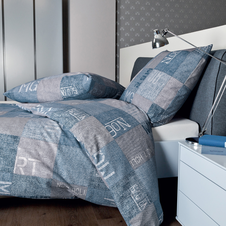 janine feinbiber bettw sche davos 65046 02 blau grau. Black Bedroom Furniture Sets. Home Design Ideas