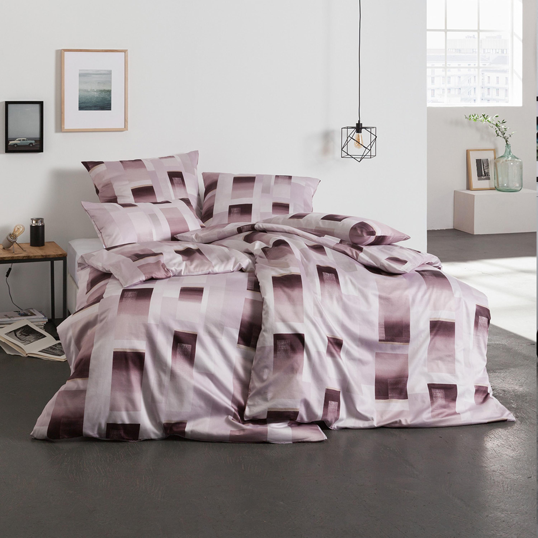 estella mako satin bettw sche vito mit zusatzkissen 40x80 cm rosenholz. Black Bedroom Furniture Sets. Home Design Ideas