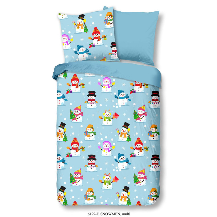 Good Morning Kinder Bettwäsche SNOWMAN, 100% Baumwolle/Flanell, multi