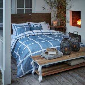 Riviera Maison Flanell Bettwäsche GRAND STREET in Übergröße, blue – Bild 2
